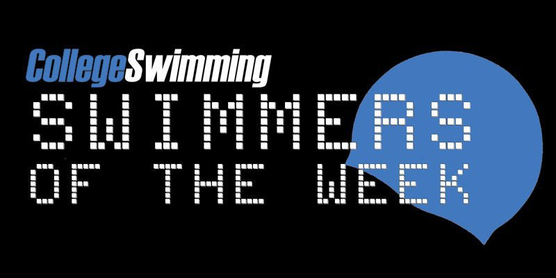 Chadwick Leads Men's Swimmers-of-the-Week