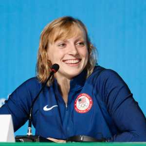 Katie Ledecky Cracks 3 Pool Records as Stanford Downs California