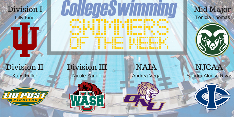 King, Ransford Capture Swimmers-of-the-Week