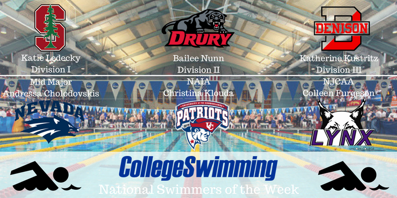 Stanford, Drury, Denison Sweep National Honors